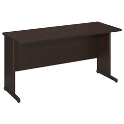 Bush BBF Series C Elite 60W x 24D C-Leg Desk in Mocha Cherry