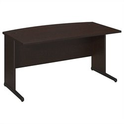 Bush BBF Series C Elite 60W x 36D C-Leg Bow Front Desk in Mocha Cherry