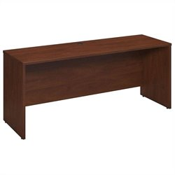 Bush BBF Series C Elite 72Wx24D Desk-Credenza-Return in Hansen Cherry