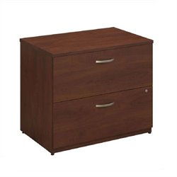 Bush BBF Series C Elite 36W 2 Drawer Lateral File in Hansen Cherry