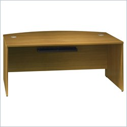 Bush BBF Quantum 72W Bow Front Desk Shell in Modern Cherry