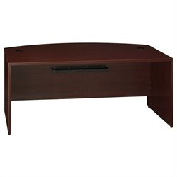 Bush BBF Quantum 72W Bow Front Desk Shell in Harvest Cherry
