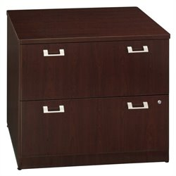 Bush Business Furniture Quantum 36W 2Dwr Lateral File Harvest Cherry