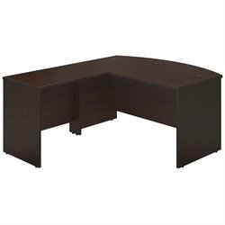 Bush BBF Series C Elite 60W x 36D Bow L Computer Desk in Mocha Cherry