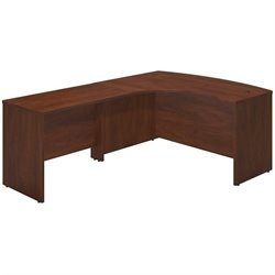 Series C Elite 60W x 43D Left Hand Bowfront Desk Shell with 42W Return