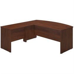 Bush BBF Series C Elite 72W x 36D Bow L Computer Desk in Hansen Cherry
