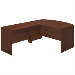 Bush BBF Series C Elite 60W x 36D Bow L Computer Desk in Hansen Cherry