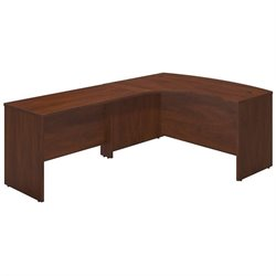 Bush BBF Series C Elite 60Wx43D Left L Computer Desk in Hansen Cherry