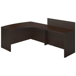 Bush BBF Series C Elite 60Wx43D Right L Computer Desk in Mocha Cherry