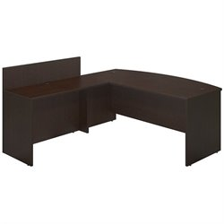 Series C Elite 72W x 36D Bowfront Desk Shell with 48W Privacy Return
