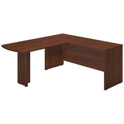 Bush BBF Series C Elite 66W x 24D L Computer Desk in Hansen Cherry