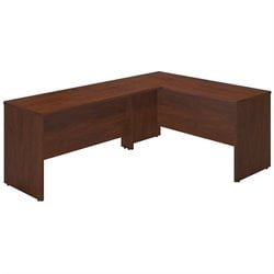 Bush BBF Series C Elite 60W x 24D L Computer Desk in Hansen Cherry
