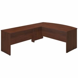 Series C Elite 72W x 36D Bowfront Desk Shell with 60W Return
