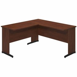 Bush BBF Series C Elite 60Wx24D C Leg L Computer Desk in Hansen Cherry