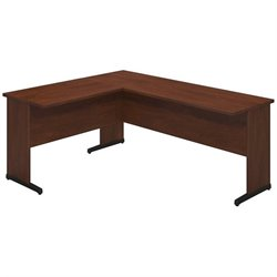 Bush BBF Series C Elite 72Wx24D C Leg L Computer Desk in Hansen Cherry