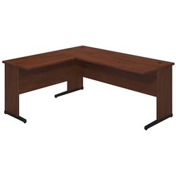 Bush BBF Series C Elite 72Wx30D C Leg L Computer Desk in Hansen Cherry