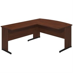 Bush BBF Series C Elite 60Wx36D C Leg L Computer Desk in Hansen Cherry