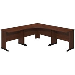 Bush BBF Series C Elite 48Wx48D C Leg L Computer Desk in Hansen Cherry