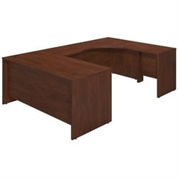 Bush BBF Series C Elite 66W x 30D U Desk Office Set in Hansen Cherry