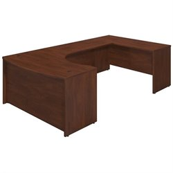 Bush BBF Series C Elite 60Wx43D Bow U Desk Office Set in Hansen Cherry