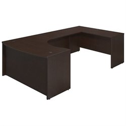 Bush BBF Series C Elite 60Wx43D Bow U Desk Office Set in Mocha Cherry