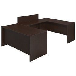 Bush BBF Series C Elite 66W x 30D U Desk Office Set in Mocha Cherry