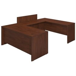 Bush BBF Series C Elite 72Wx30D Bow U Desk Office Set in Hansen Cherry