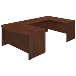 Bush BBF Series C Elite 60Wx36D Bow U Desk Office Set in Hansen Cherry