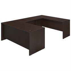 Bush BBF Series C Elite 72W x 30D U Desk Office Set in Mocha Cherry
