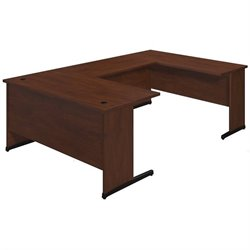Bush BBF Series C Elite 60W x 30D C Leg U Office Set in Hansen Cherry
