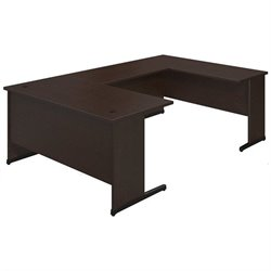 Bush BBF Series C Elite 60W x 30D C Leg U Office Set in Mocha Cherry
