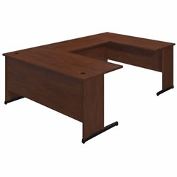 Bush BBF Series C Elite 66W x 30D C Leg U Office Set in Hansen Cherry