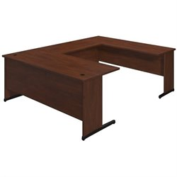 Bush BBF Series C Elite 72W x 30D C Leg U Office Set in Hansen Cherry