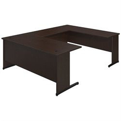 Bush BBF Series C Elite 72W x 30D C Leg U Office Set in Mocha Cherry