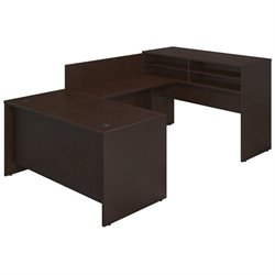 Bush BBF Series C Elite 60W x 30D U Desk Office Set in Mocha Cherry