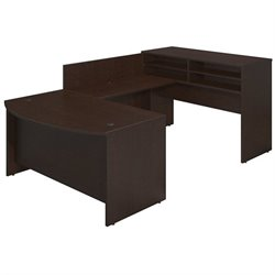 Bush BBF Series C Elite 60Wx36D Standing Bow U Desk Office Set