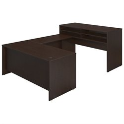 Bush BBF Series C Elite 72W x 30D Standing U Desk Office Set