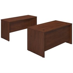 Bush BBF Series C Elite 60W x 30D 2 Piece Office Set in Hansen Cherry
