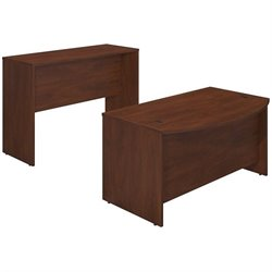 Series C Elite 60W x 36D Bowfront Desk Shell with Standing Height Credenza