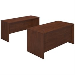 Bush BBF Series C Elite 66W x 30D 2 Piece Office Set in Hansen Cherry