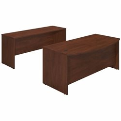 Series C Elite 72W x 36D Bowfront Desk Shell with Credenza