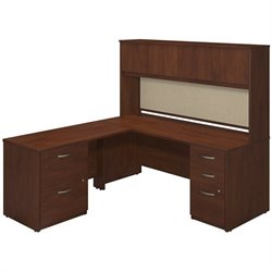 72W x 30D Desk Shell with 48W Return, Hutch and Storage