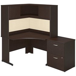 Bush BBF Series C Elite C Leg Corner Computer Desk in Mocha Cherry