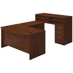 Bush BBF Series C Elite U Station Desk Office Set in Hansen Cherry