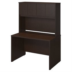 Bush BBF Series C Elite 48W x 30D Computer Desk Shell in Mocha Cherry
