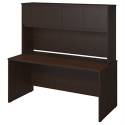 Bush BBF Series C Elite 66W x 30D Computer Desk Shell in Mocha Cherry