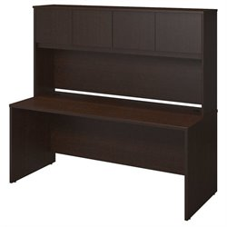 Bush BBF Series C Elite 72W x 30D Computer Desk Shell in Mocha Cherry