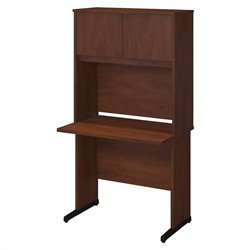 Bush BBF Series C Elite 36W x 24D C Leg Computer Desk in Hansen Cherry