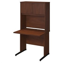 Bush BBF Series C Elite 36W x 30D C Leg Computer Desk in Hansen Cherry