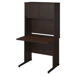 Bush BBF Series C Elite 36W x 30D C Leg Computer Desk in Mocha Cherry